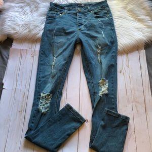 Boohoo distressed skinny Jeans
